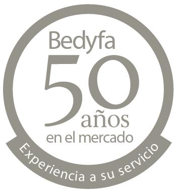 50 años en el mercado: Bedyfa inició su actividad 1968, apostando desde sus comienzos y a lo largo de todos estos años por la calidad y el servicio como principal seña de identidad. DESDE 1968, BEDYFA