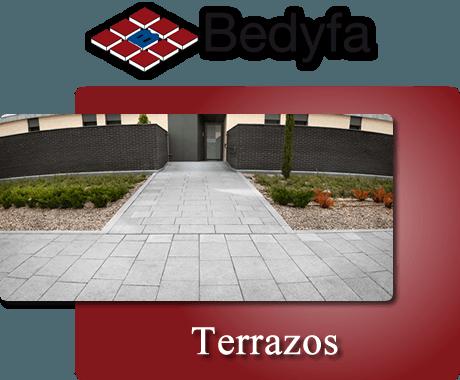 Bedyfa Terrazos: Terrado de Exterior, Terrazo de Interior y Peldaños de piedra artificial